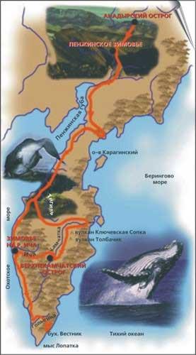 Карта-схема походов Владимира