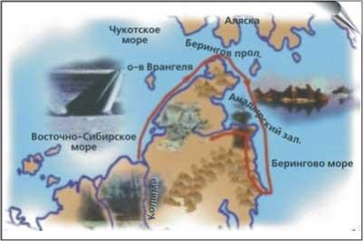 Карта экспедиция дежнева томас де ля рю