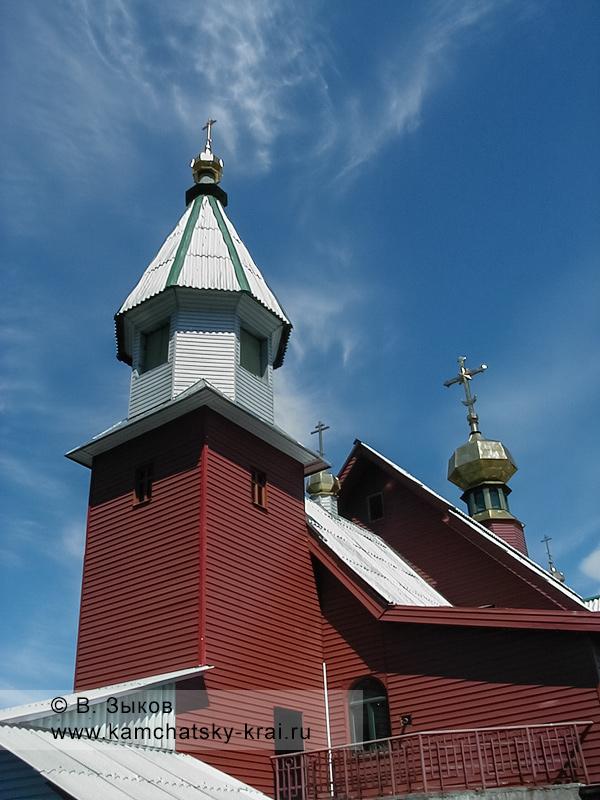 Церковь Святой Живоначальной Троицы в городе Елизово