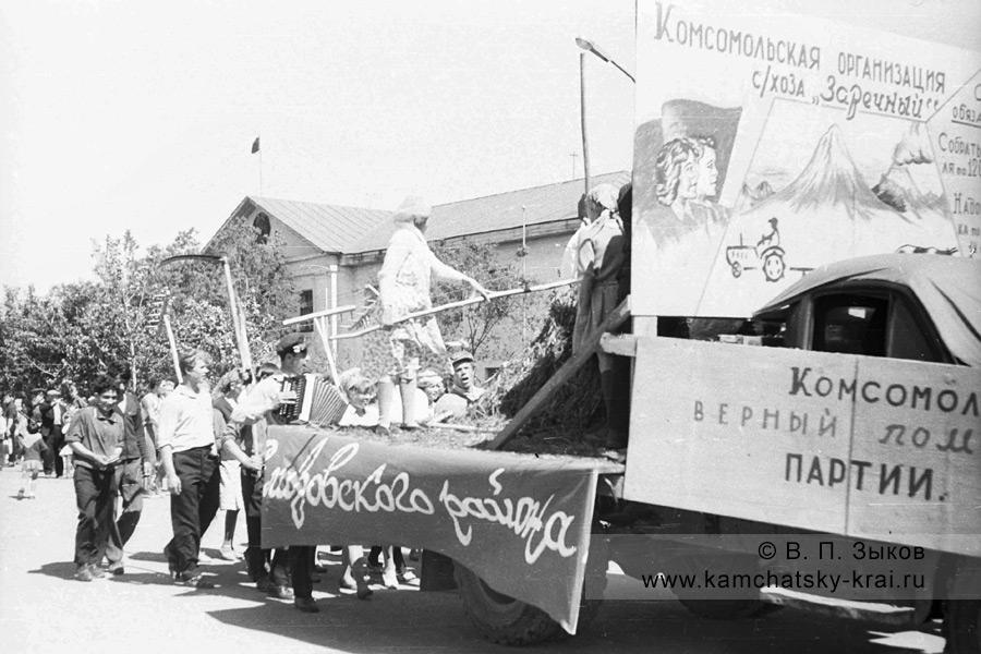 Парад 1 мая в городе Елизово