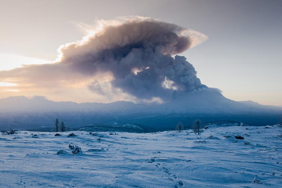Извержение вулкана Кизимен (Щапинская сопка)