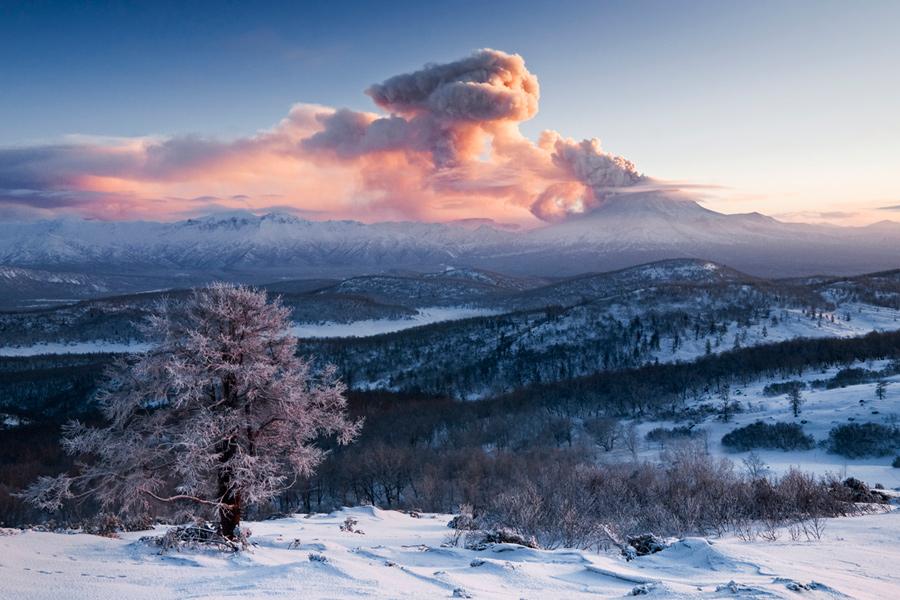 Извержение вулкана Кизимен (Щапинская сопка, Kizimen Volcano)