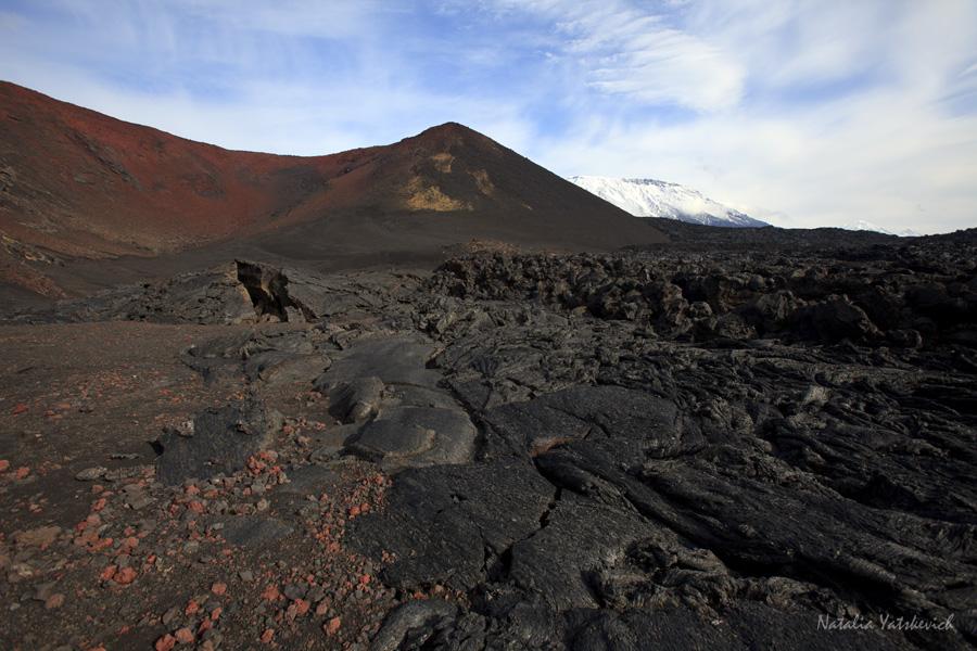 Застывший лавовой поток извержения вулкана Толбачик