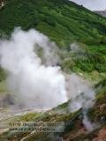 Долина гейзеров, извержение гейзера Великан
