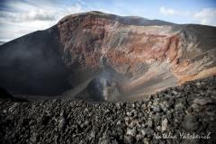 Кратер побочного извержения вулкана Плоский Толбачик