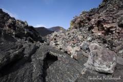 Застывшая лава извержения вулкана Плоский Толбачик