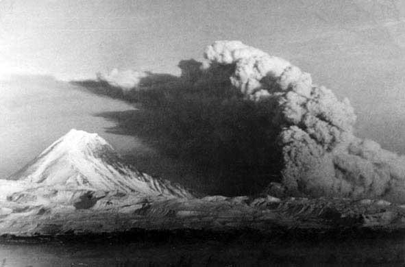 Взрыв вулкана Безымянного 22 октября 1955 года